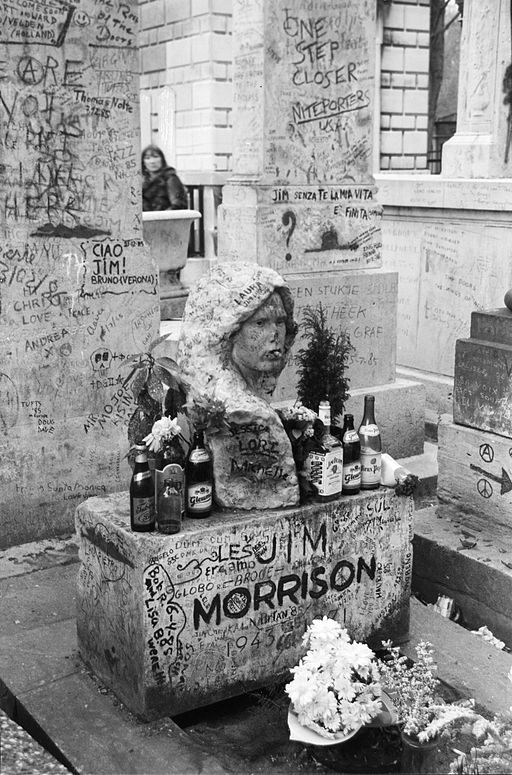 Jim Morrison's Grave at the Pere Lachaise in Paris