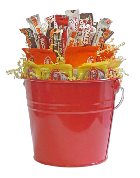 Cow Tales Gift Bucket from Goetze Candy