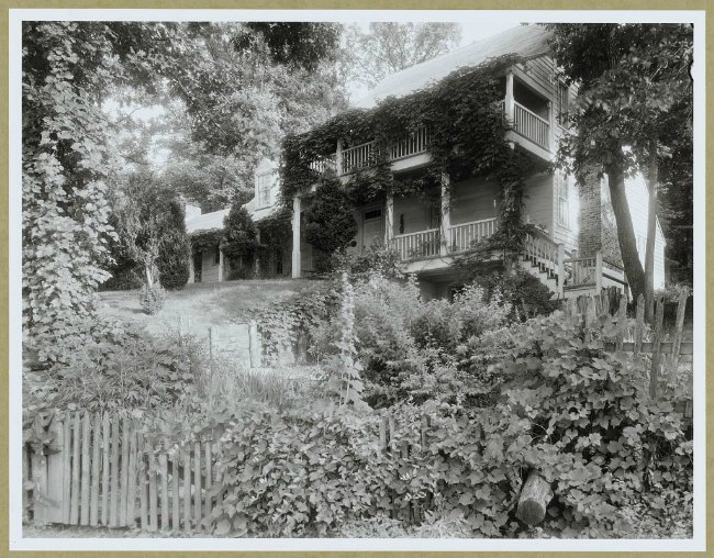 """Michie's Old Tavern,"" Charlottesville vicinity, Albemarle County, Virginia, by the American photographer and photojournalist Frances Benjamin Johnston."