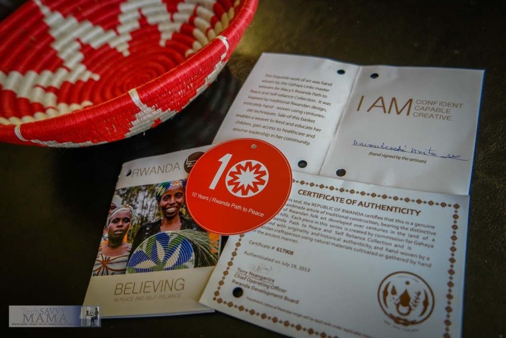 Macy's Rwanda Path to Peace is celebrating it's 10th Anniversary with limited edition baskets to decorate your home with and create great talking points about trade not aid.