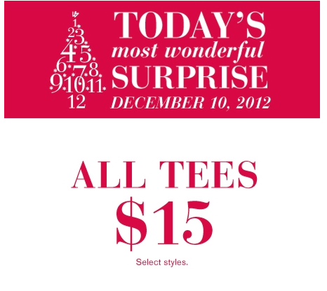 Surprise Offer: In store and online: select Lane Bryant brand long sleeve Tshirts $15