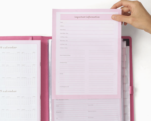 momAgenda All In One Folio refill pages
