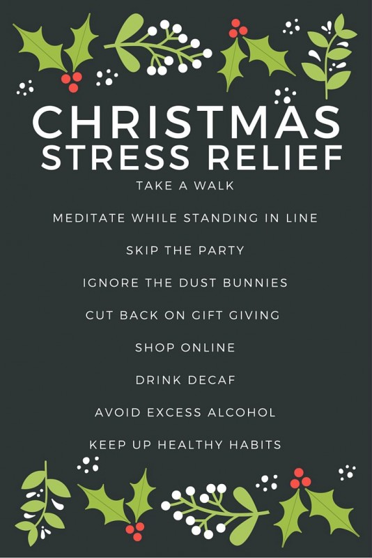 9 tips for Christmas Stress Relief