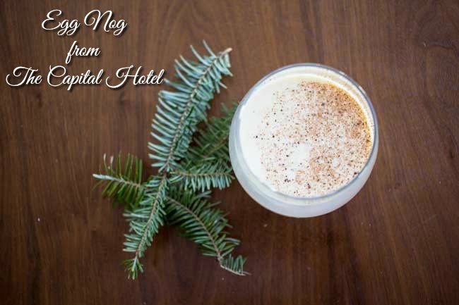 Try this decadent egg nog recipe from the Capital Hotel at your next Christmas holiday gathering!