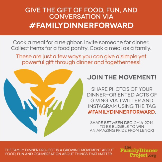 The #familydinnerforward project