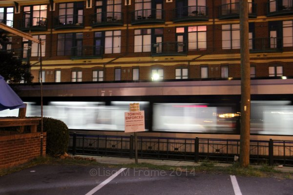 Light Rail, Charlotte, NC at night