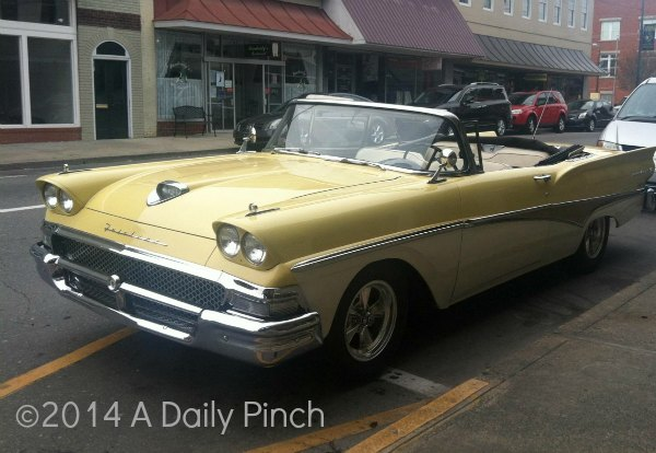 Ford Fairlane. Vintage cars in Mayberry, NC