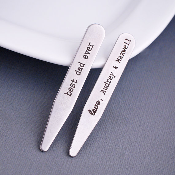 Stainless steel collar stays are the perfect Valentine's Day gift for the fellow who must be suited and booted at all times.