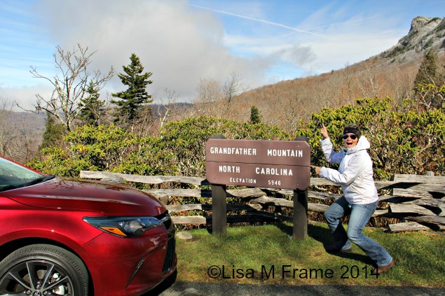 Dee at Grandfather Mountain