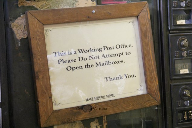 Working Post Office, Mast General Store, Valle Crucis, NC
