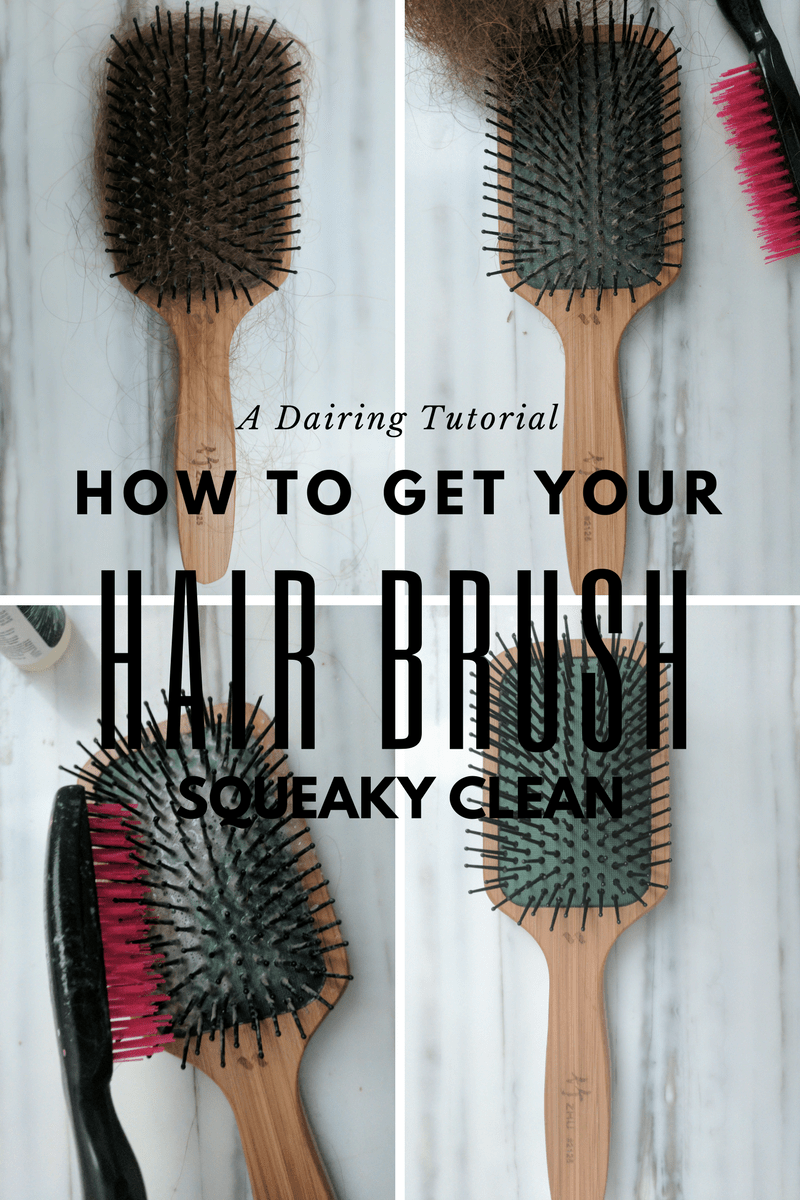 How to get your hair brush squeaky clean infographic