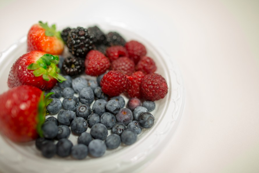 PLate of mixed berries