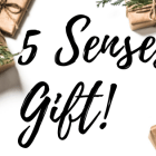 5 Senses Gift: Perfect for that person that you just aren't sure what to get. Free printable included!