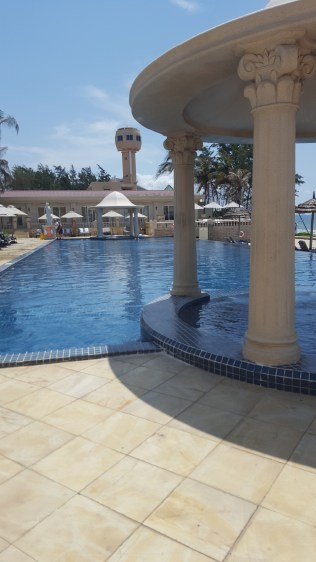 Pool side at Imperial Hotel