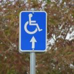 handicapped parking sign picture