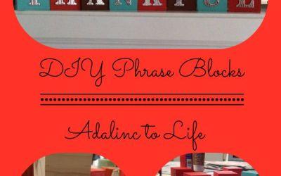 DIY Phrase Blocks