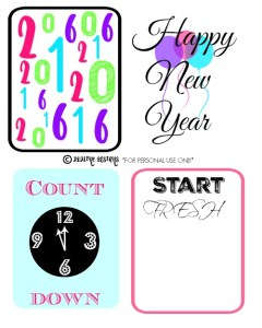 New Years Journal Cards
