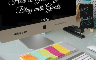 How to Grow a Blog Through Goals + January Goals Planning Sheet