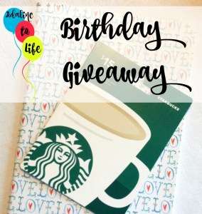 Birthday Giveaway 2016
