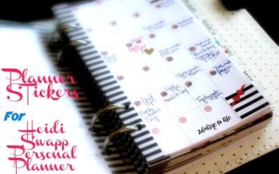 New Heidi Swapp Memory Planner Stickers