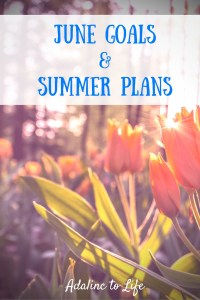 June Goals and Summer Plans