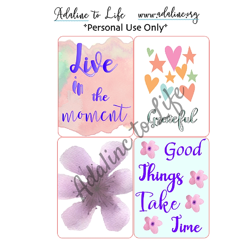 Live in the moment journal cards