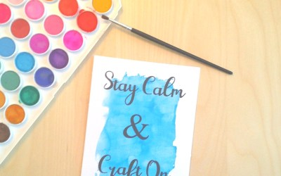 Freebie Friday #2 – Stay Calm and Craft On Printable