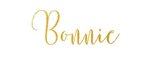 Bonnie in Gold glitter