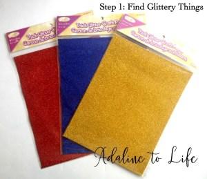glitter supplies for photos