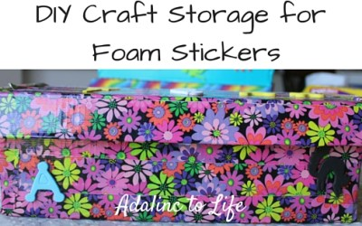 DIY Craft Storage & Organization for Foam Stickers