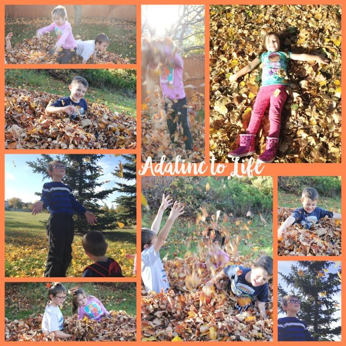 Autumn Leaves Kids collage