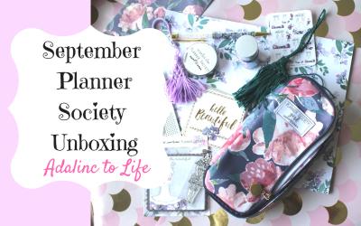 September Planner Society Kit Unboxing