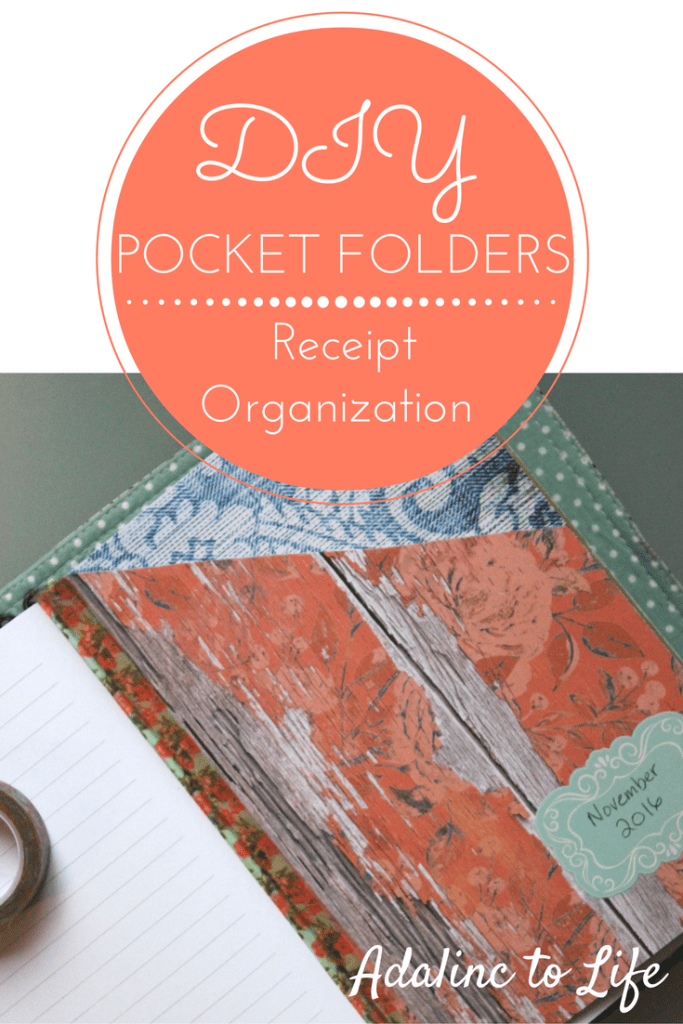 DIY Pocket Folders for Your traveler's notebook to help organize receipts