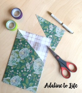DIY pocket folder for your traveler's notebook