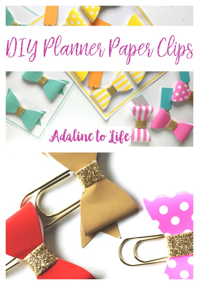 DIY planner paper clips for spring
