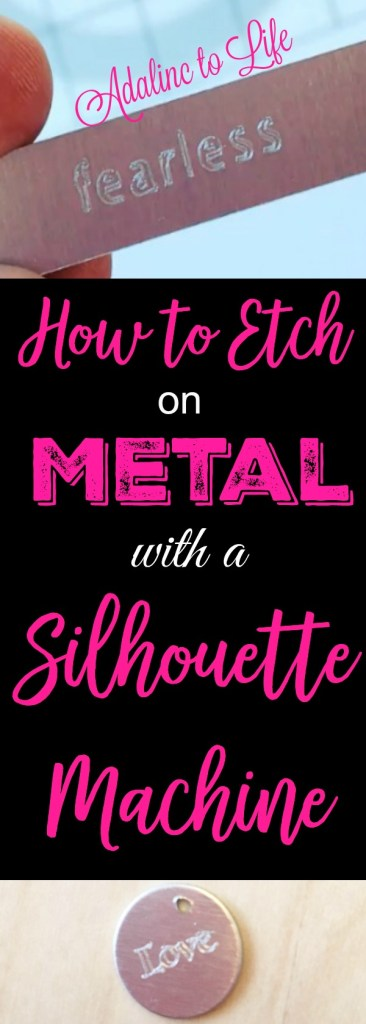 how to etch on metal with a silhouette curio machine