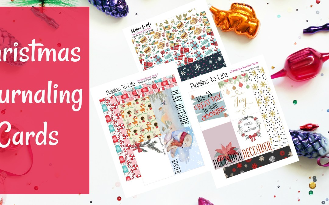 Christmas Journaling Cards Great for Project Life or December Daily