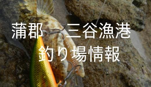 【蒲郡三谷漁港】東三河の釣り場の中でもシーバス狙いの人ならスレてないし人も少ないしアリなポイントです