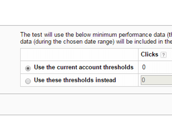 Changing thresholds for manual tests