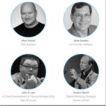 "Marc Poirier, Brad Geddes, John A. Lee, Anders Hjorth on the webinar ""2017 PPC predictions"" thumbnail"
