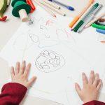 Childrens hands starting school