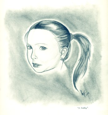 Little girl pencil - enhanced