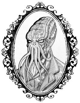 Fancy Cthulhu framed A