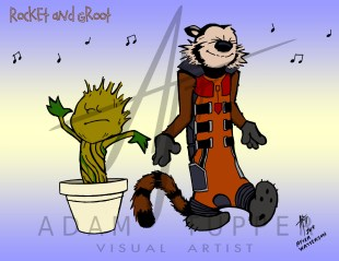 Rocket and Groot web