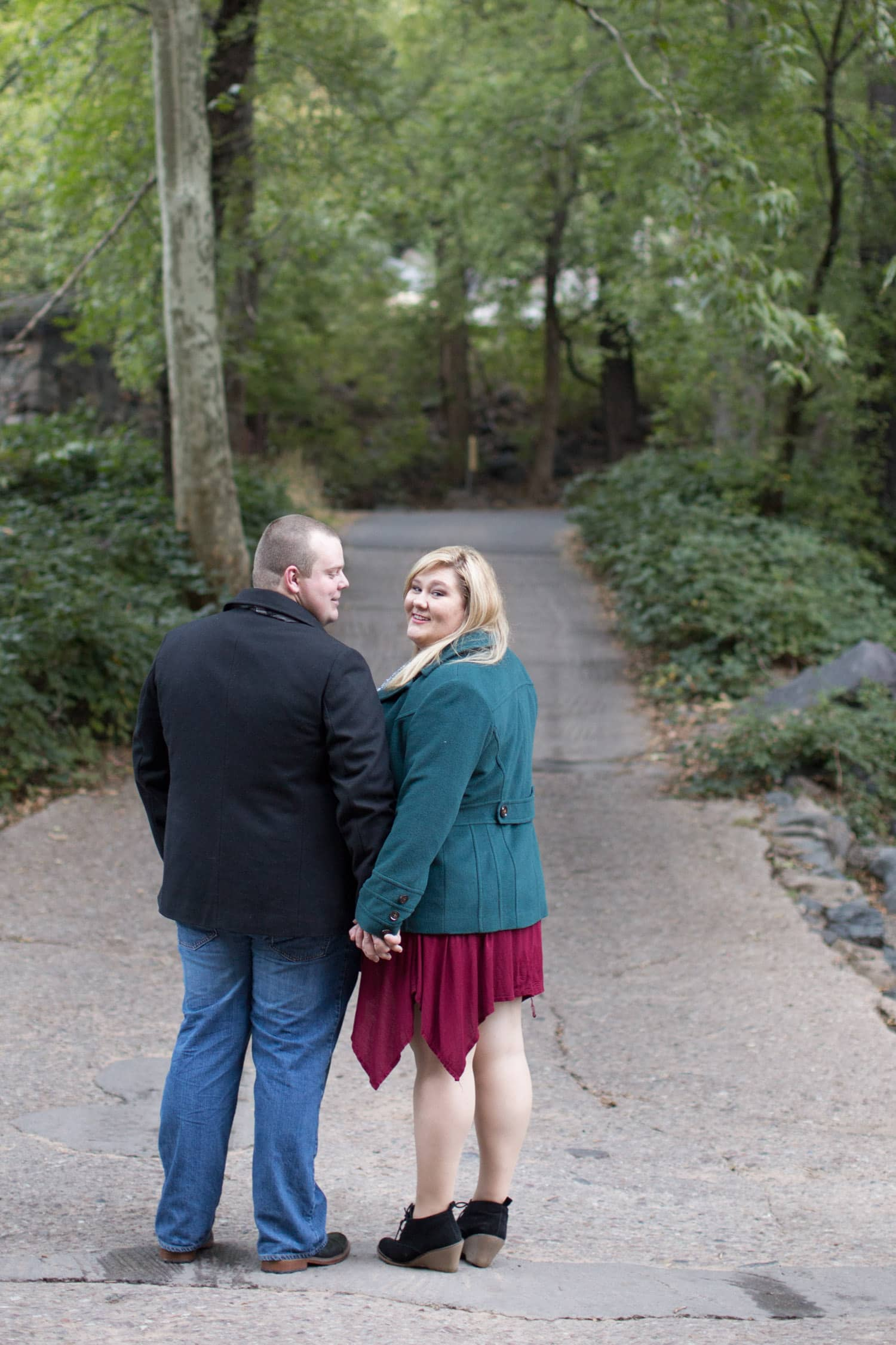 Plus size engagement photos