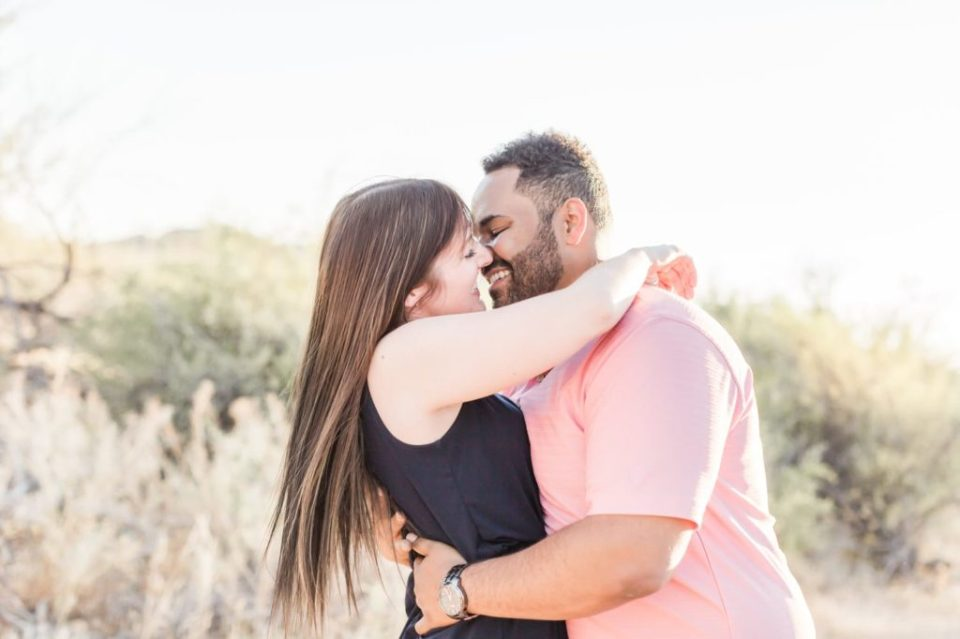 Phoenix Desert Engagement Photos