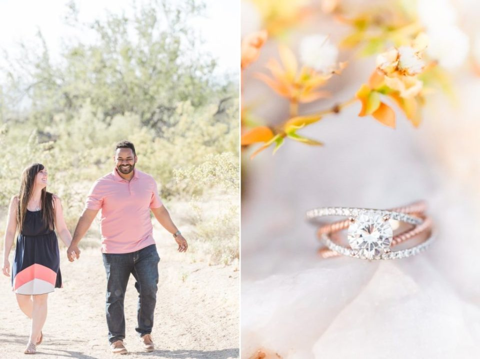 Phoenix desert engagement photos