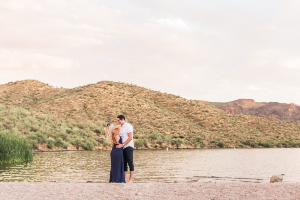 summer engagement session in Arizona