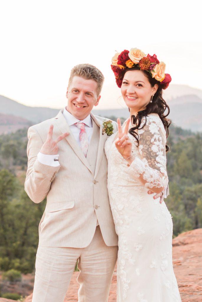 Bridal Flower Crown in Sedona Arizona