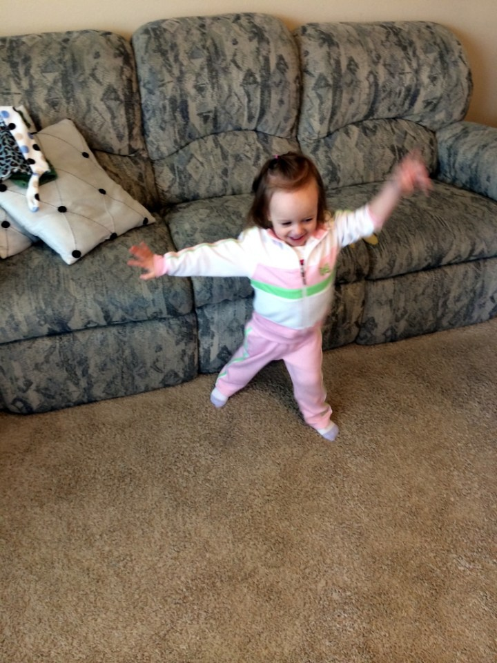 Eliza jumping